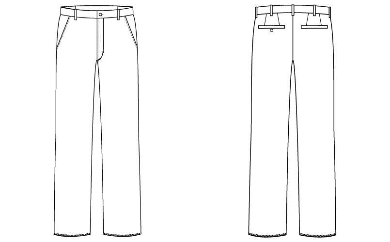 自重堂 WH90272 WHISEL ストレッチパンツ(男性用) ハンガーイラスト・線画