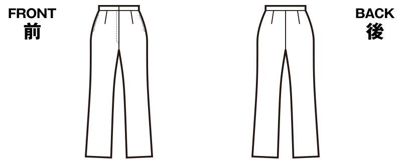 en joie(アンジョア) 76150 しなやかな伸縮性の美シルエットパンツ 無地 ハンガーイラスト・線画