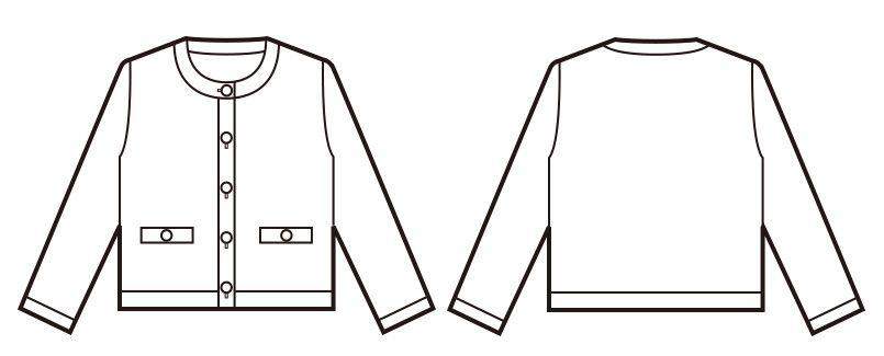 en joie(アンジョア) 81670 [秋冬用]優しい見た目できちんと感のあるニットジャケット 無地 ハンガーイラスト・線画