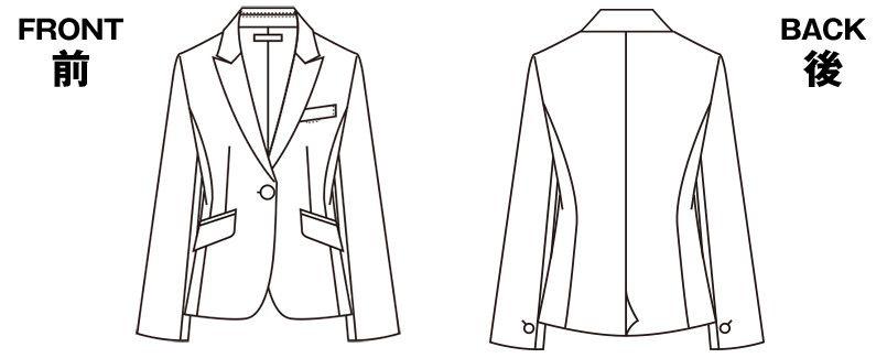 S-24801 24809 パトリックコックス ジャケット ブラインドチェック ハンガーイラスト・線画
